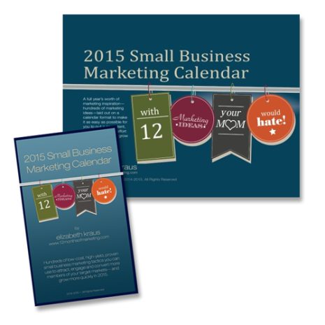 2015 small business marketing calendar template